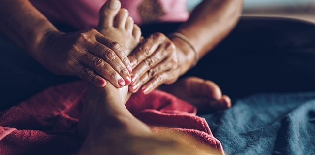 reflexology is founded on the ancient Chinese belief in qi